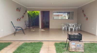 Photo for House Garden, 3 minutes from Thermas dos Laranjais, air conditioning, wifi, cable TV