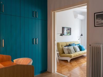 Photo for Teal Blue 1BR under the Acropolis by JJ Hospitality