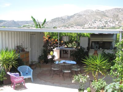 Photo for Private campsite 2000m2 in the middle of orange trees between sea and mountains