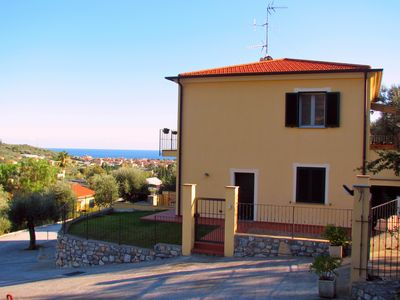 Photo for The Meloria: Apartment 2 Km from the beaches with Terrace and Garden Sea View