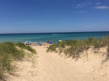 Steps Away From Sandy Beach Of Lake Michigan Stop 1