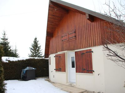 Photo for Chalet 30m² in Métabief (Doubs) at the foot of the slopes (ski & mountain bike), Lake 10 mins
