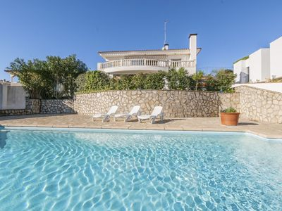 Photo for Beautiful house with a large terrace and swimming pool with a fantastic view