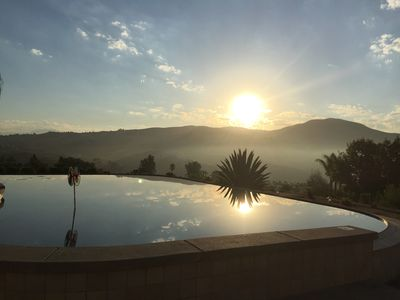 Photo for Villa La Serena  Wine Country Home walk to wineries - Infinity Pool Views