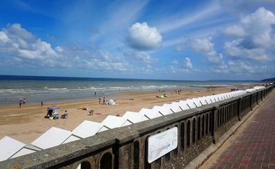 Photo for Pretty South exposed 2P with garden, in the heart of Cabourg & 1st sea line