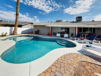 Photo for Beautiful Backyard Oasis! Stylish 4BR w/Private Pool & Hot Tub, Near Old Town