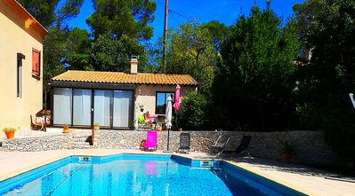 Photo for Self-catering - Facing swimming pool - In wooded property 2500m² - Clim + park