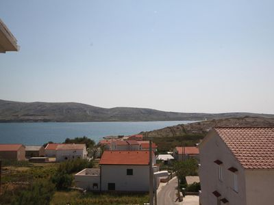 Photo for Two bedroom apartment with balcony and sea view Zubovići, Pag (A-6520-b)