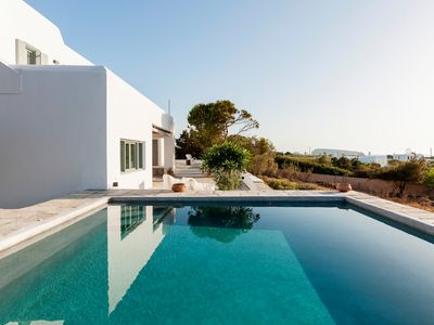 Photo for Sandy Beach Villa Santa Maria Paros 5 Bedroom upto 12guests private pool, short walk from the Beach.