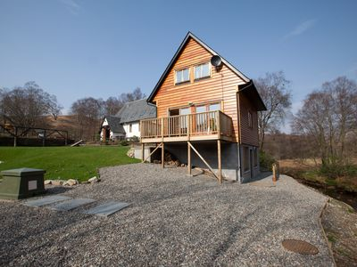 Photo for Log Cabin with Private Hot Tub and Wood burning Stove, 1km from Loch Lomond