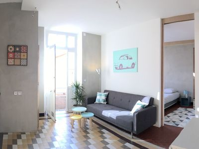 Photo for Beautiful apartment for 5 people with WIFI, TV, balcony and parking