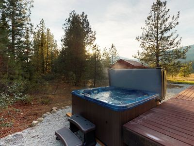 Photo for Dog-friendly chalet on 2 acres with a covered deck, near Lake Wenatchee!