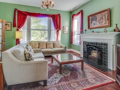 Photo for Upgraded and historic dog-friendly home w/ shared backyard entertainment area!