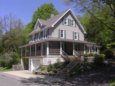 """Photo for Victorian """"Dew Deck"""" Cottage located in the center of town in Eagles Mere"""
