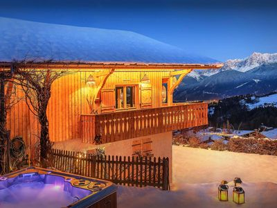 Photo for Stylish 5 star chalet - Mont Blanc views, hot tub, terrace - OVO Network