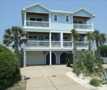 Luxurious Oceanfront 6 BR vacation townhome with Elevator in heart of Kure Beach