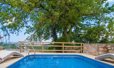 Photo for Villa Pomogna in Chania with stream jet and salt water pool