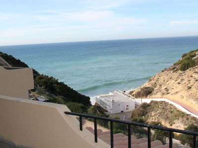 Photo for Sea view, 3 minutes to the beach, Aircon, WLAN, large terrace, quiet location