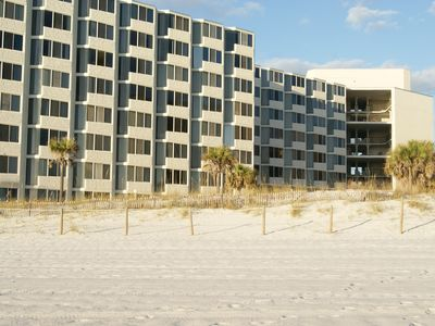 Photo for Ground Floor At Top Of The Gulf (beach chairs included)