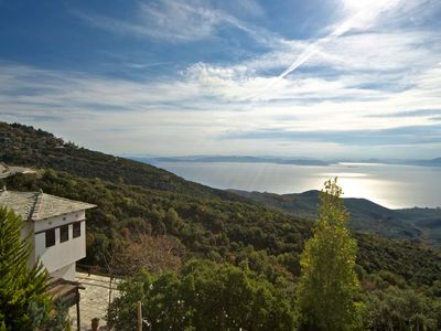 Photo for PELION HOMES | Villa SELINI large traditional villa w/ pool & breathtaking view