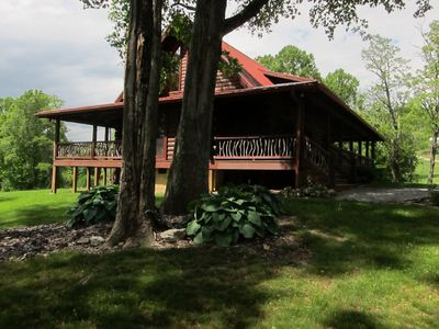 Photo for BEARWALLOW DEN -NEAR ASHEVILLE - HENDERSONVILLE LUXURY MOUNTAIN CABIN - 2 KING