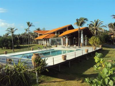 Photo for Beautiful beach house with 6 bedrooms in Guajirú-EC beach, kite surfing paradise.