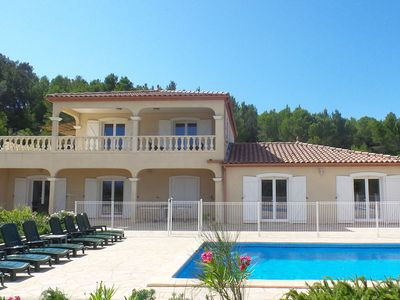 Photo for Villa with view, heated pool, jacuzzi, fenced garden and play equipment for kids