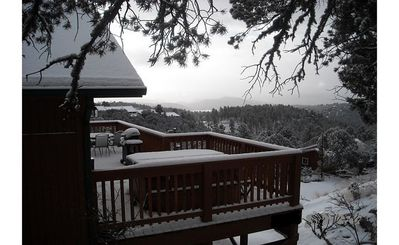 Photo for Private Rental Cabin Secluded at 7400 Ft on Mountainside, Great View, Hot Tub