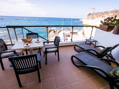 Photo for Nice apartment in front of the ocean, sea view, La Caleta