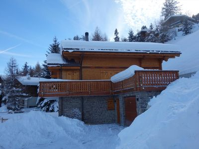 Photo for Luxurious and spacious 5*, 5-bedroom chalet for 9 persons located between the ski lift of Les Masses