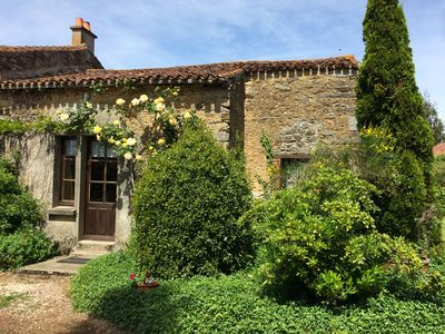 Photo for Charming Country Cottage with garden - Breuil Barret