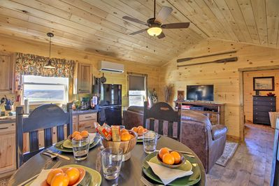 Get out into the country and book this charming vacation rental cabin!