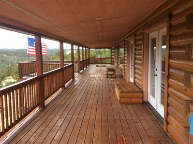 Front deck looking North