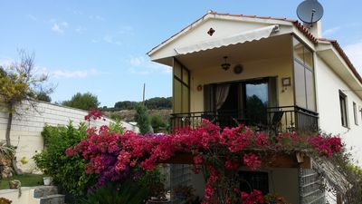 Photo for Unique country house with pool and views over the vineyards, 2 km from the sea