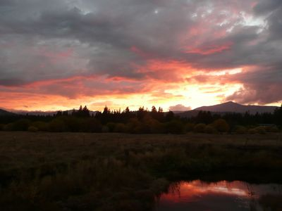 Photo for COZY+VIEWS!!! Snow-Capped Mountains, Meadows and River Views, Current Decor!