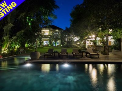 Photo for Hidden Villa, Luxury 4 Bedroom, 100m from the Beach, Canggu