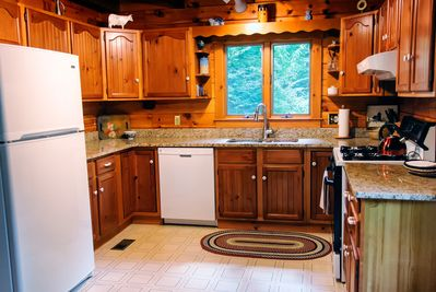 Kitchen has every amenity for the family chef and a very well stocked pantry.