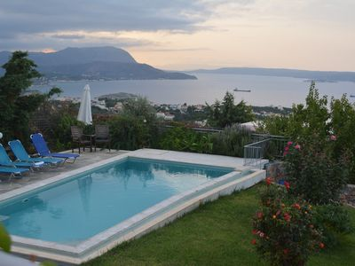 Photo for Bay View Villa I in Crete with private swimming pool and modern convenient
