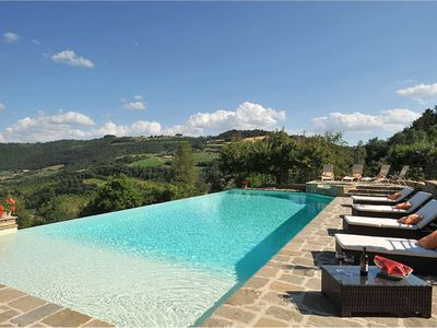 Photo for Villa Bellissima is aluxury property in Umbria with private pool, jacuzzi, 6 bedrooms, 6 bathrooms s