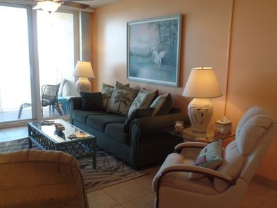 Comfortable and beachy, two recliner/rockers