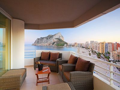 """Photo for Apartment a short walk away (320 m) from the """"Cala Calalga"""" in Calp with Lift, Parking, Internet, Washing machine (142685)"""
