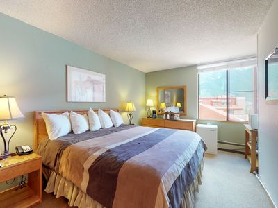 Photo for King room with shared hot tub & mtn. views- walk to ski lifts