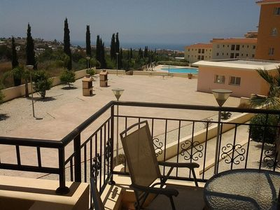 Photo for 1 Bedroom Apartment  plus sofa bed up to 3 adults. Communal Pool And Sea Views