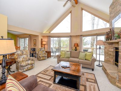 Photo for Creature Comforts- 6 bedroom lakefront home with fire pit and hot tub