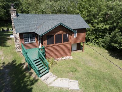 Photo for Cute Cabin with Hot Tub on 18 acres Near Whiteface & Adirondack Wildlife Refuge