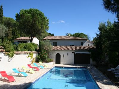 Photo for Cottage '' Hacienda '' in the shade of a pine forest near Carcassonne Palaja excursions