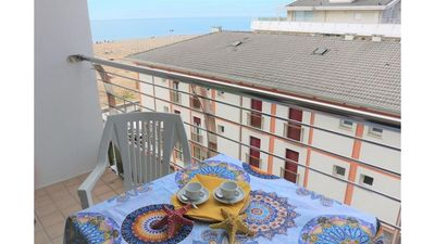 Photo for Seafront Building up to 6 Guests - Beach Place & Amenities - Airco & Parking