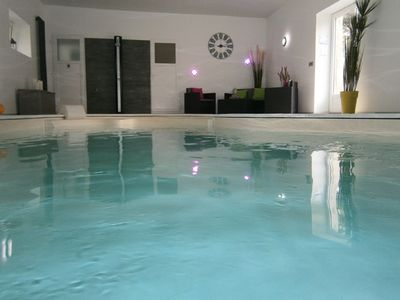 Photo for Gite 3 people with indoor pool heated all year to 28 °