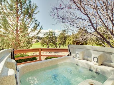 Photo for NEW LISTING! Dog-friendly golf course view home w/private hot tub, shared pool