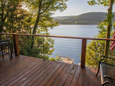Photo for Waterfront lake house with incredible views!